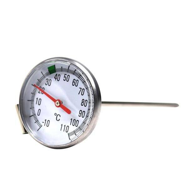 Edelstahl Thermometer PREMIUM -10 - +110 °C (für Käse, Joghurt, Quark)