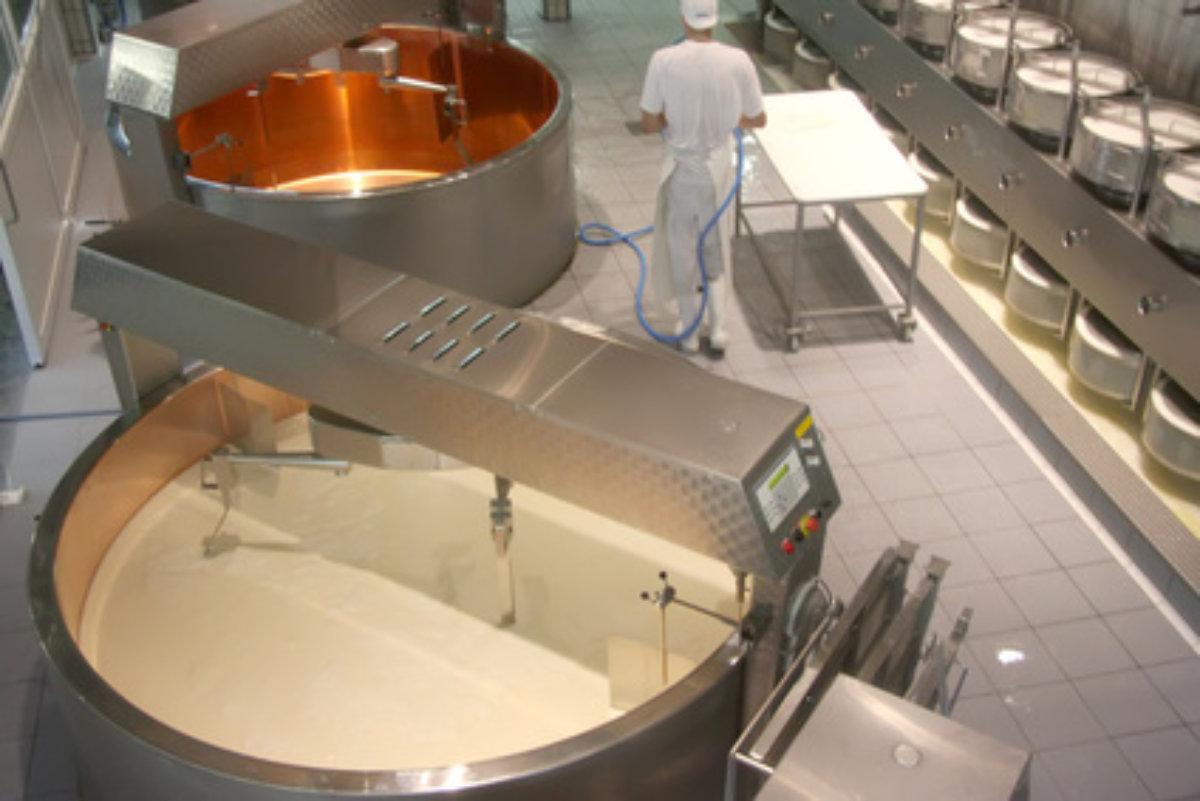 Die technische Ausstattung einer Molkerei