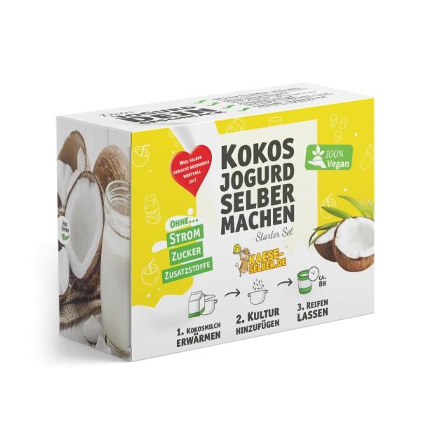 Veganen Kokosjogurd selber machen Set (Joghurt Alternative)