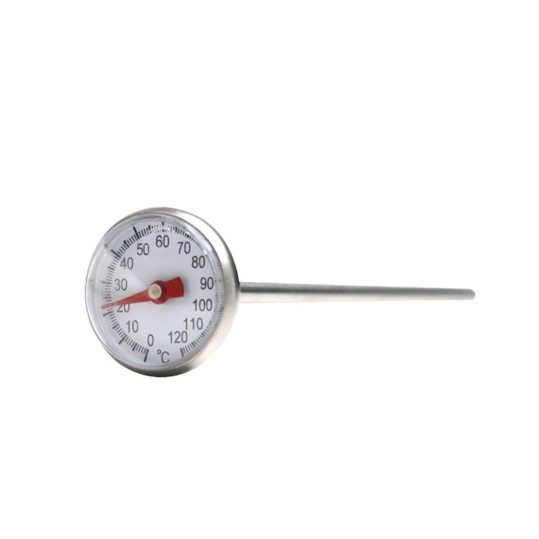 Edelstahl Thermometer 0 - 120 °C (für Käse, Joghurt, Quark)