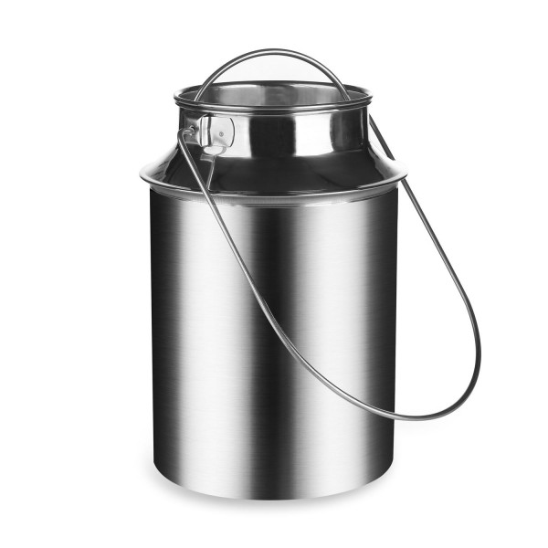 Milchkanne 5 Liter aus Edelstahl